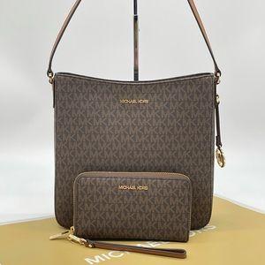 Michael Kors Large Messenger Bag & Phone Case Wallet Brown